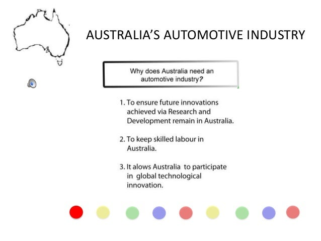 AUSTRALIA'S AUTOMOTIVE INDUSTRY
