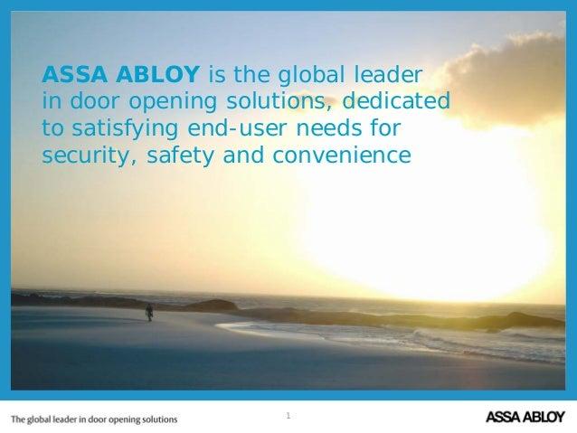 ASSA ABLOY's facts & figures -  2014 corporate presentation part 1