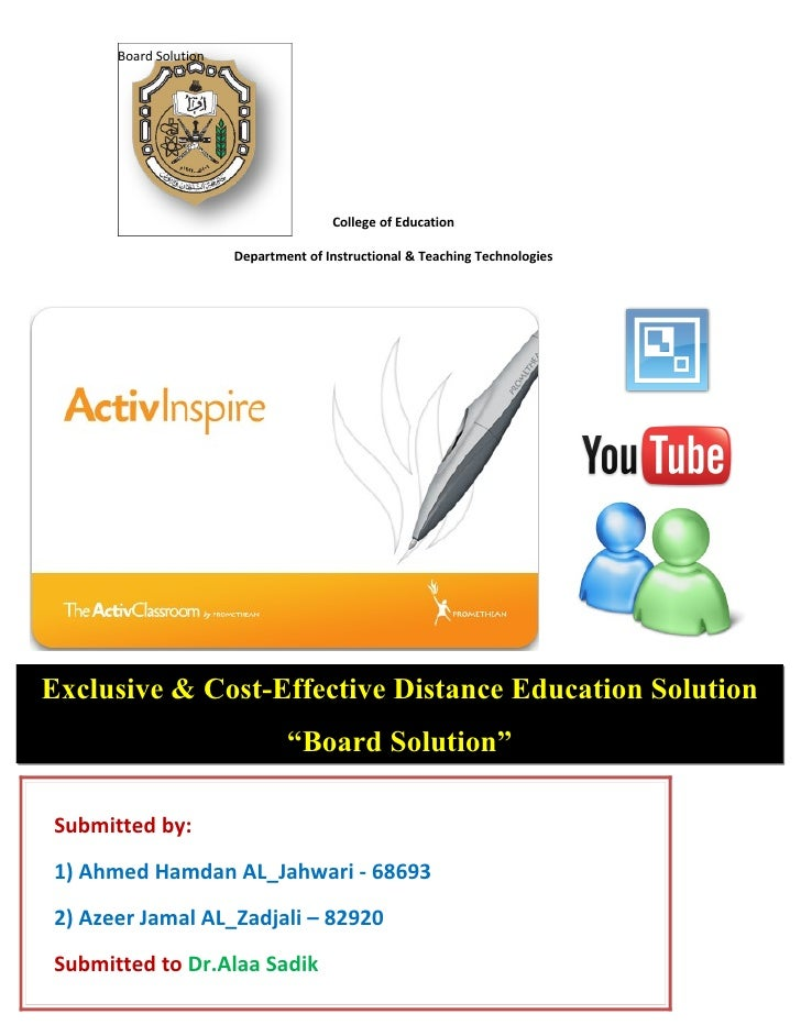 Board Solution                                           College of Education                         Department of Instru...