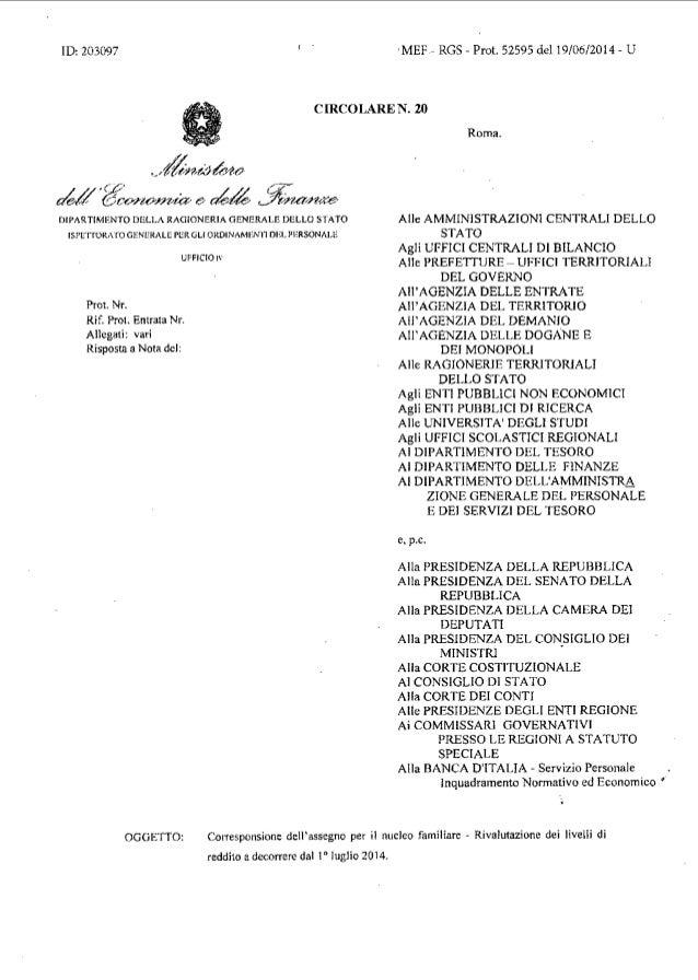 ID:203097 ,MEF- RGS- Prot. 52595 dell9/06/2014- U CIRCOLARE N. 20 •-'/kuJkto c/J·e~n0.1:1-Na e ah~ ~n.-a.n«e· DIPARTIMENTO...