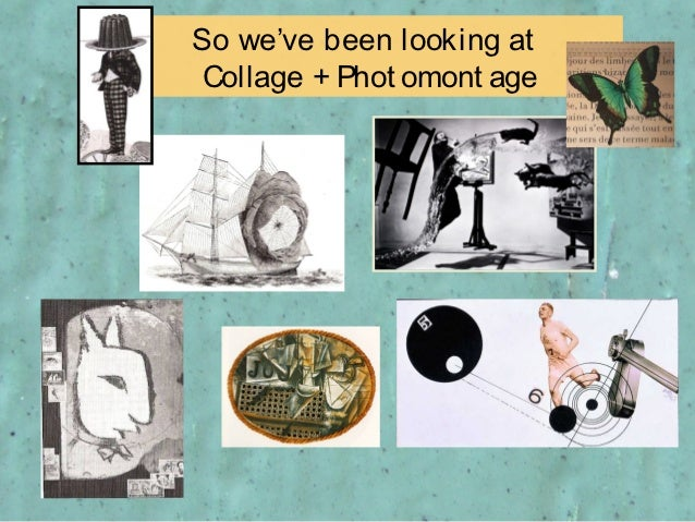 So we've been looking at Collage + Phot omont age