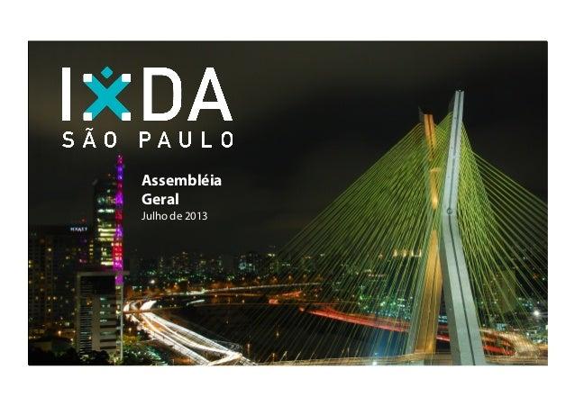 Assembleia IxDA 27-07-2013