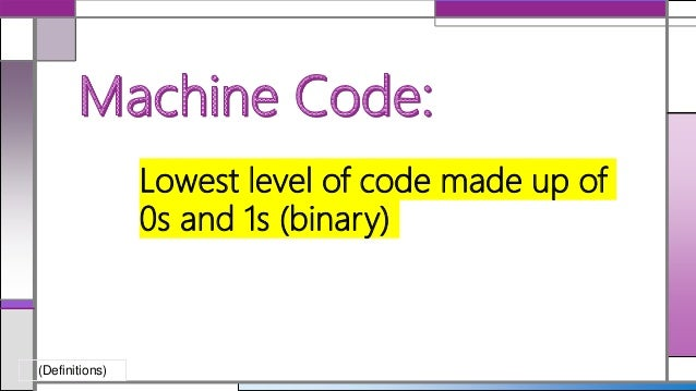 assembly code to machine code