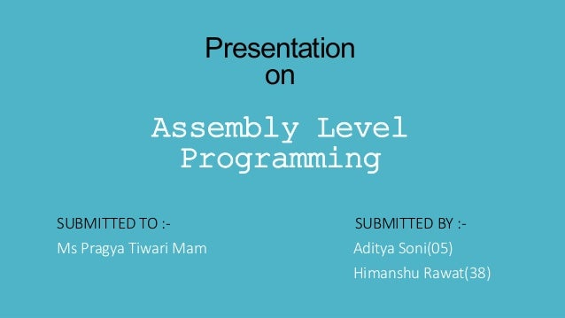 how to learn assembly language programming