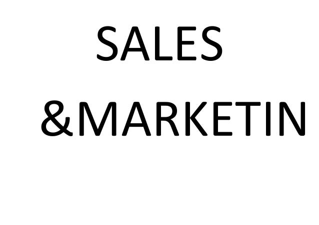 SALES&MARKETIN