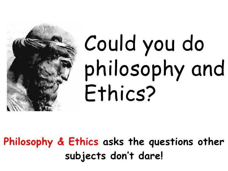 Philosophy paper on ethics