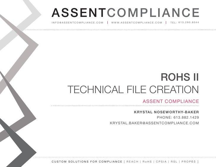 RoHS Technical File Creation Webinar Slides