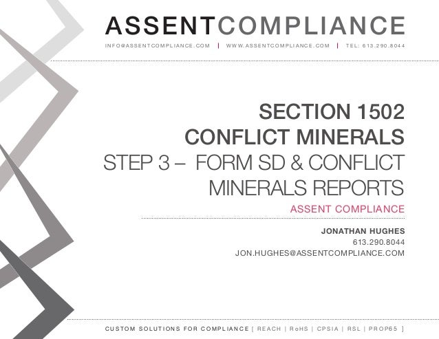 Conflict Minerals - Form SD and Conflict Minerals Reports