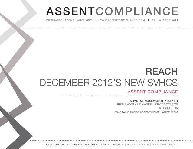 AS SENTCOM PLIANCE info@assenTcompliance.com                  w w w. a s s e n T c o m p l i a n c e . c o m   Tel: 613.29...