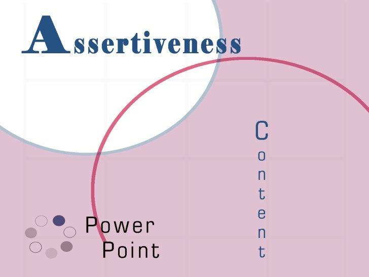 ASSERTIVENESS POWERPOINT