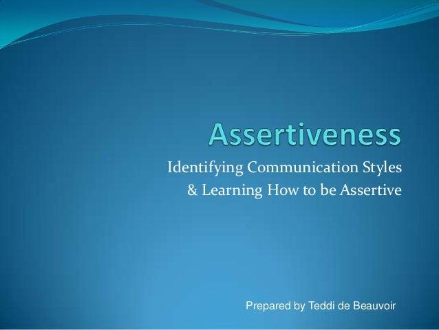 Assertiveness powerpoint 1