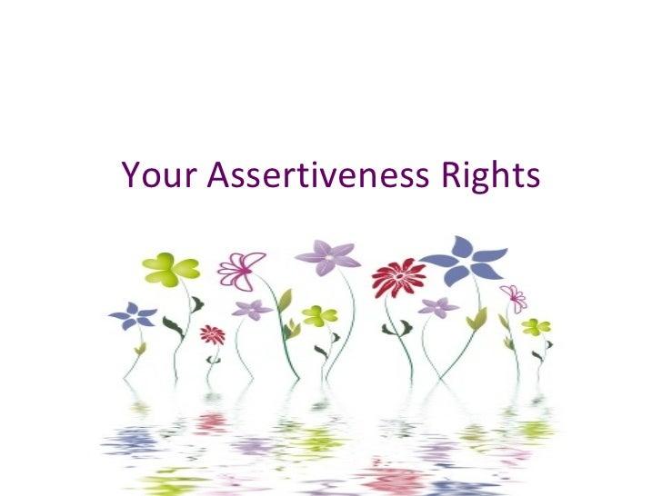 Assertiveness Rights