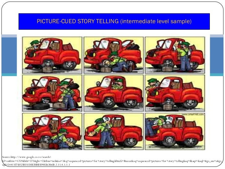 Telling a Story With Pictures Sequence Picture-cued Story Telling