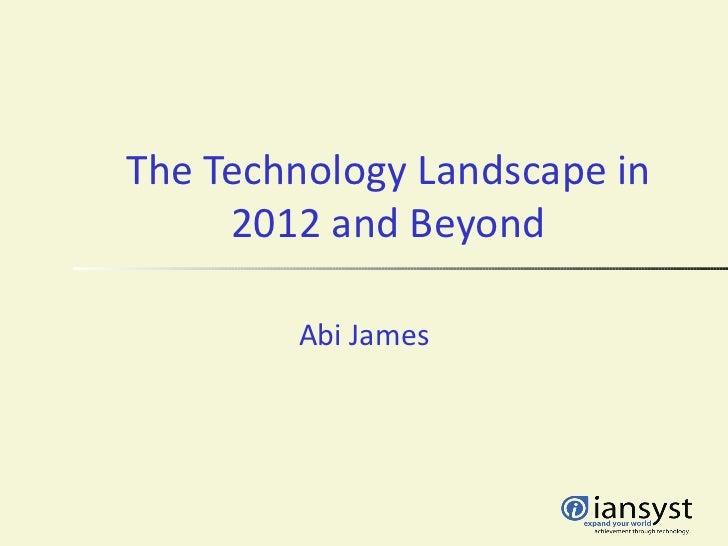 Assess2012 technology trends