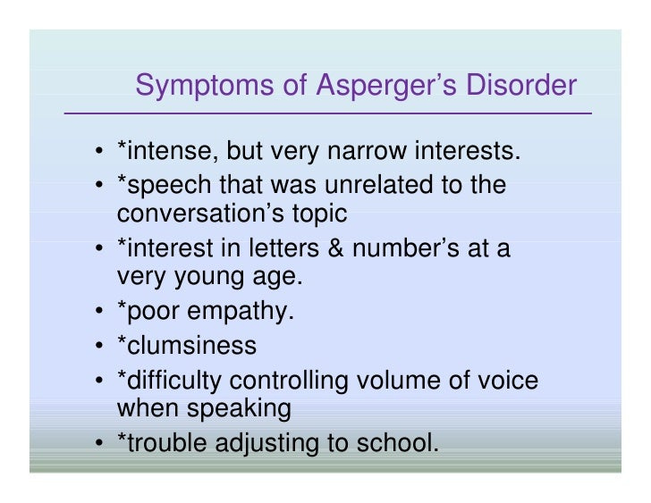 symptoms or aspergers in adults