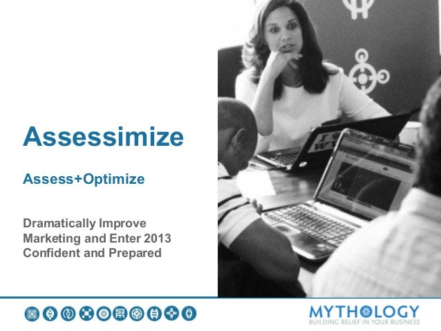 AssessimizeAssess+OptimizeDramatically ImproveMarketing and Enter 2013Confident and Prepared