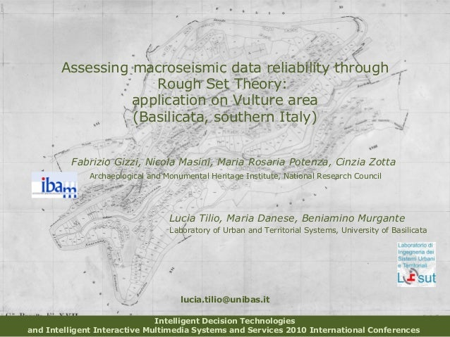 Assessing macroseismic data reliability through Rough Set Theory: application on Vulture area (Basilicata, southern Italy)...