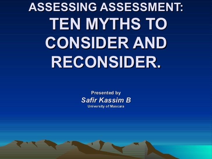 Assessing assessment