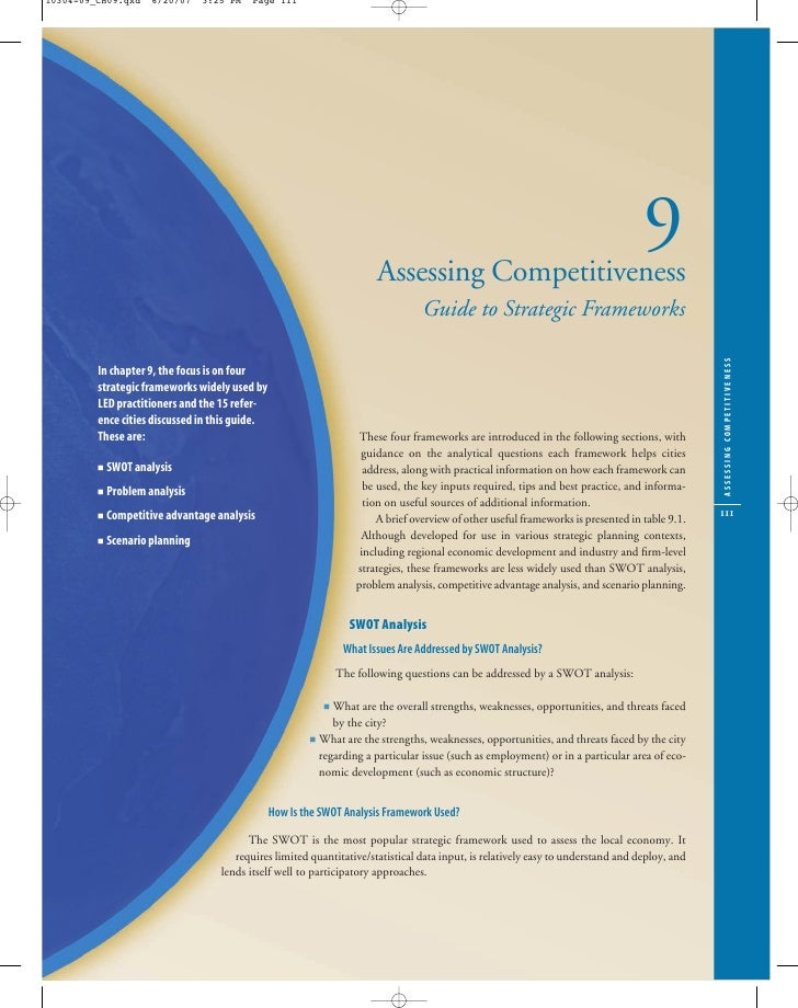 Assessing City Competitiveness Frameworks