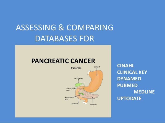 Assessing bibliographic databases for pancreatic cancer