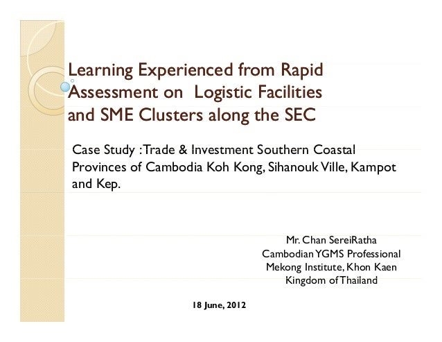 assessing logistic facilities_and_smeclusters_cambodia_coastal_area_case_study
