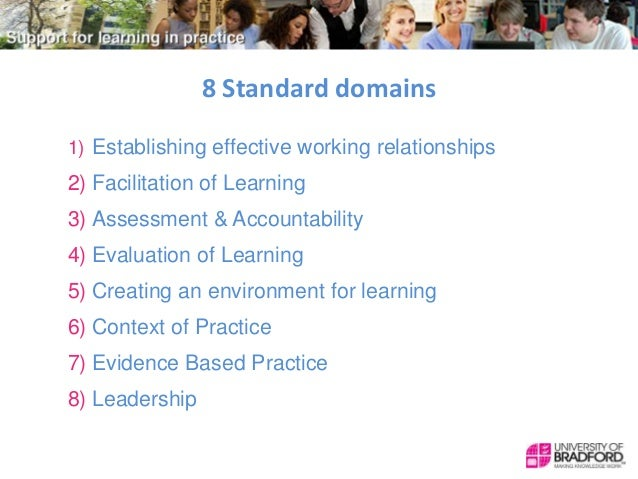 Nmc standards to support learning and assessment in practice
