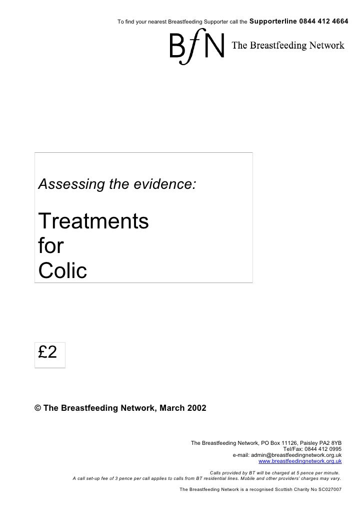 Assessing The Evidence   Treatment For Colic