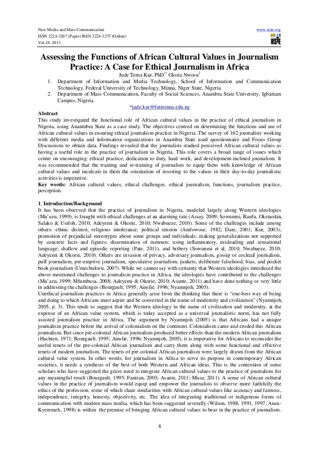 New Media and Mass Communication ISSN 2224-3267 (Paper) ISSN 2224-3275 (Online) Vol.18, 2013  www.iiste.org  Assessing the...