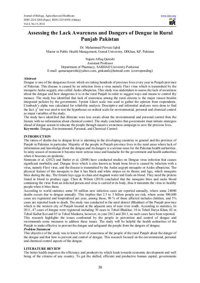 Journal of Biology, Agriculture and Healthcare www.iiste.org ISSN 2224-3208 (Paper) ISSN 2225-093X (Online) Vol.4, No.15, ...