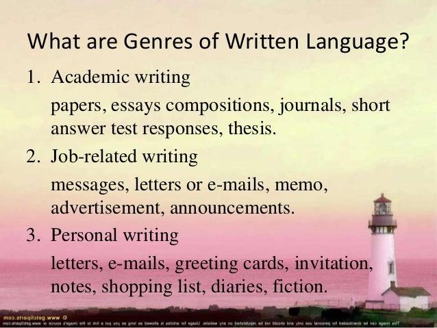 academic essay v.s. genre writing