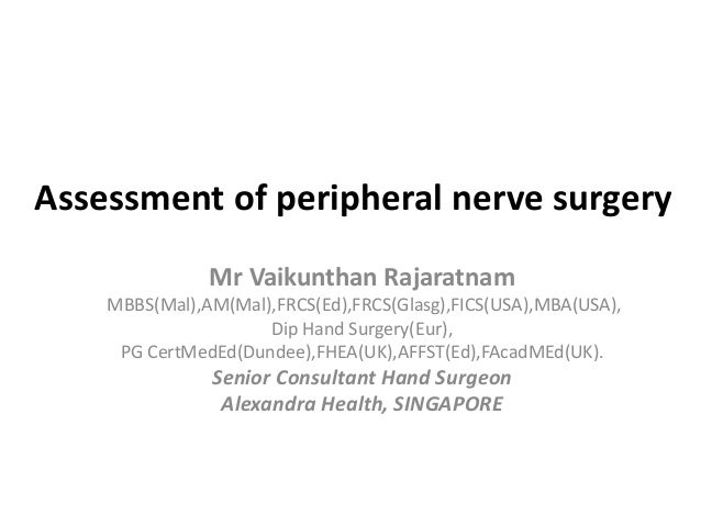 Assessment of peripheral nerve surgery