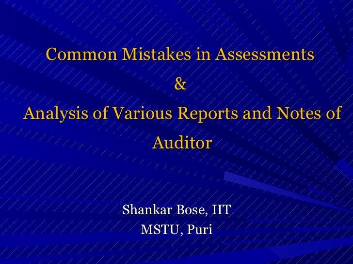 Assessment.bose