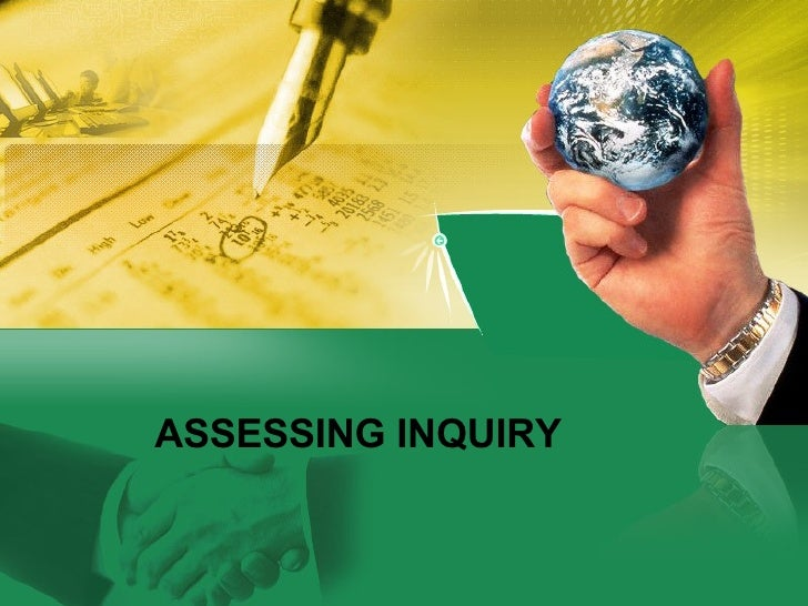 Assessment in Inquiry