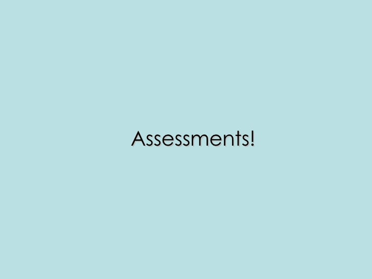 Assessment Opportunities And Products