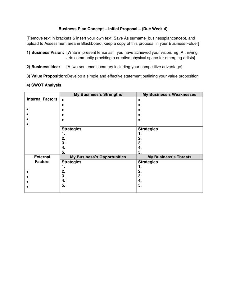 QCA3901 - Business Plan Initial Concept (Part A)