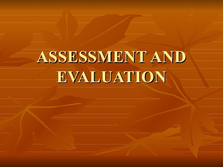 Assessment and Evaluation Edu 361