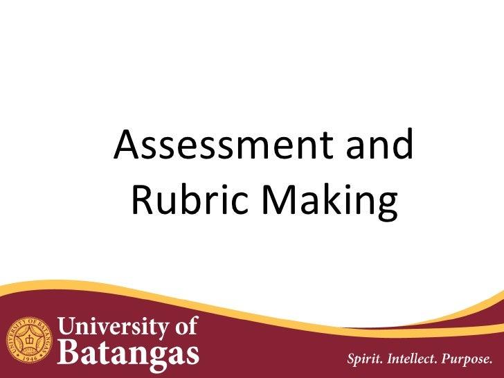 Assessment and rubrics making