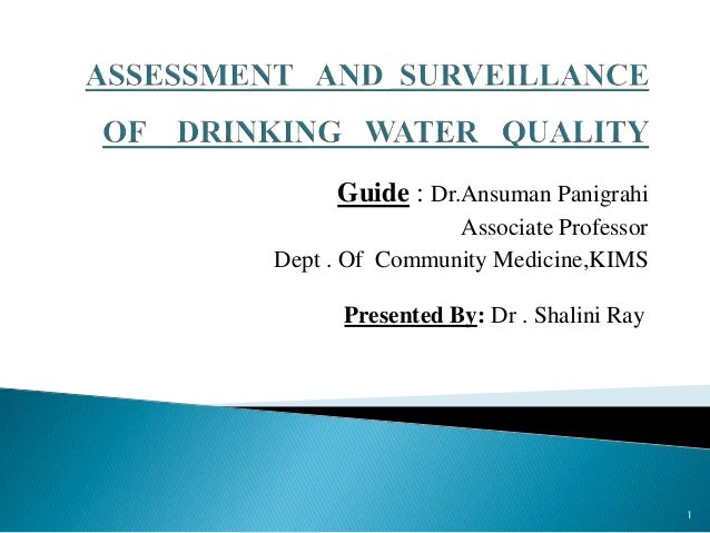 Guide : Dr.Ansuman Panigrahi Associate Professor Dept . Of Community Medicine,KIMS Presented By: Dr . Shalini Ray 1