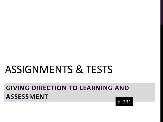 Assessment assignment