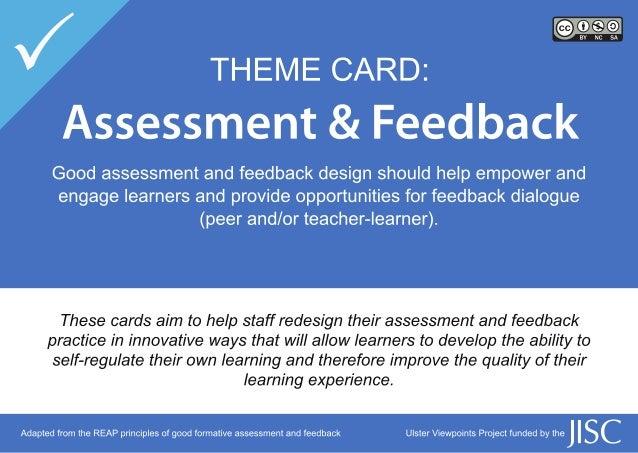 Assessment & Feedback Cards