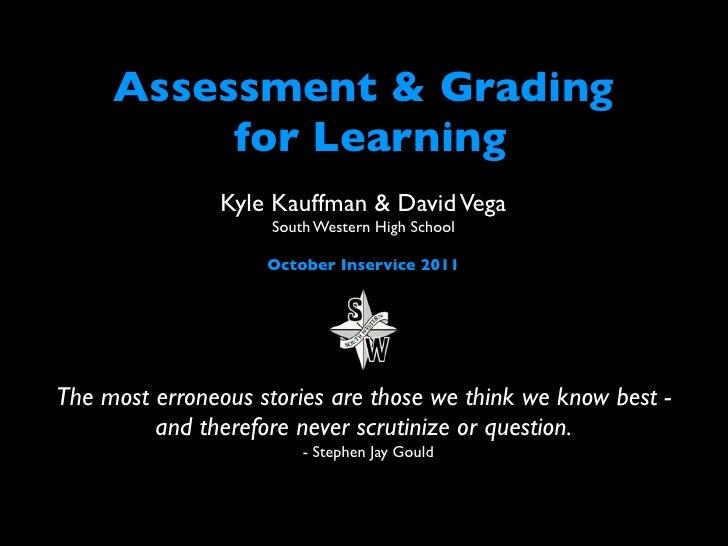 Assessment FOR Learning f11