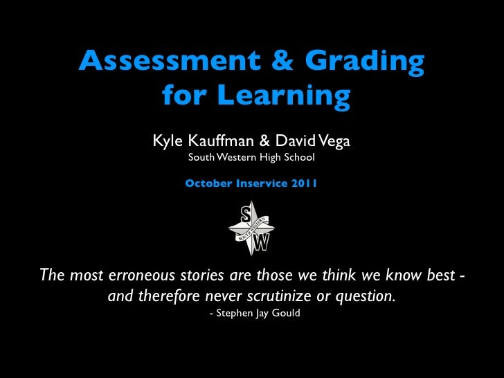 Assessment FOR Learning f11