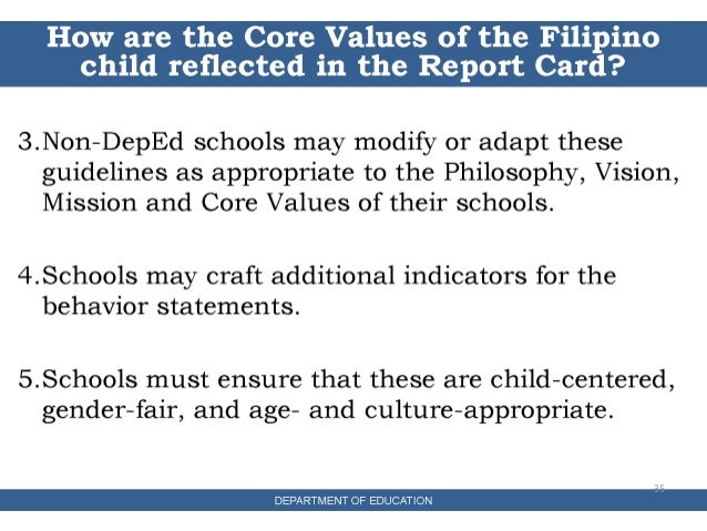 meaning of the filipino values This is an introduction to a filipino virtue ethics which is a thoroughly relationship -oriented virtue ethics in contrast with the popular scheme of filipino 'values' inherited from twentieth century american scholarship, this introduction presents a revised interpretation of those 'values' through a dialogue with.