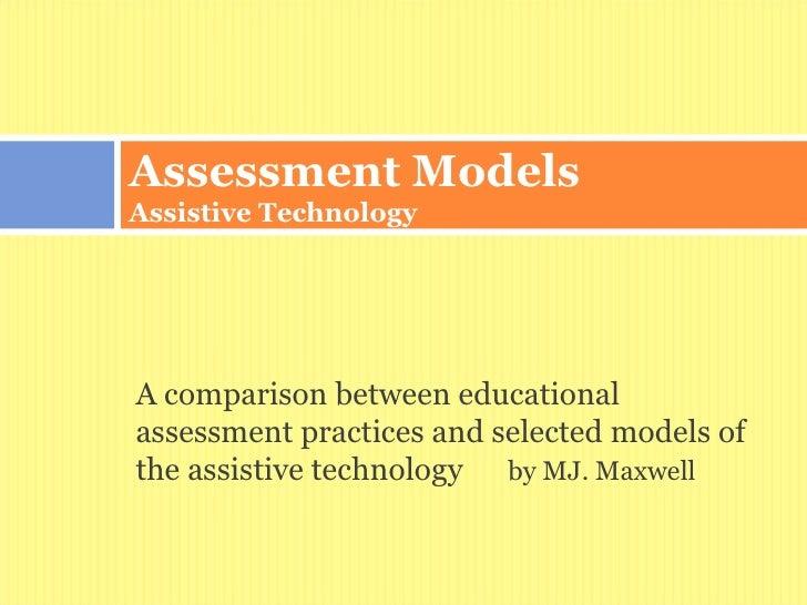 Assessment models assistive technology