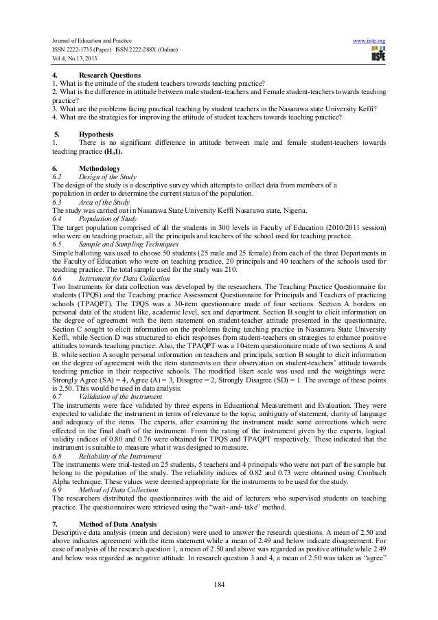 Abstract attitude dissertation educational international