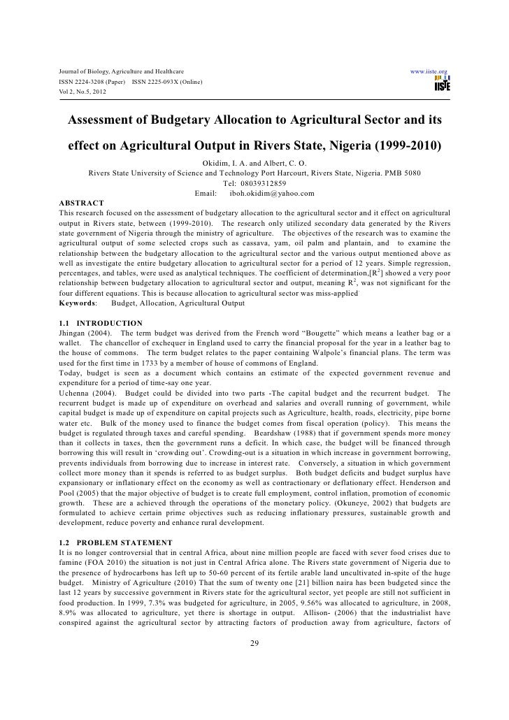Journal of Biology, Agriculture and Healthcare                                                               www.iiste.org...