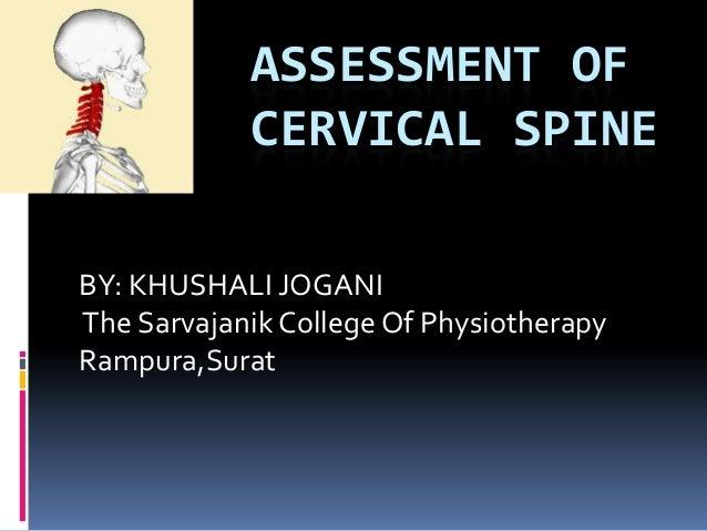Assessment of cervical spine