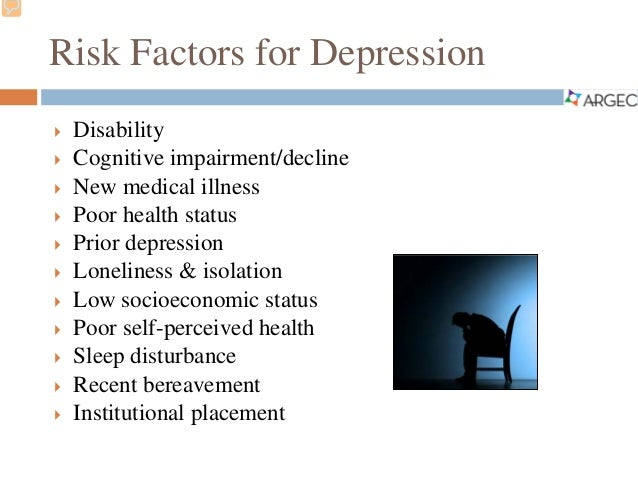 a description of the diagnosis and treatment of depression in the elderly Depression is a mood disorder that causes a persistent feeling of sadness and loss of interest and can interfere with your daily functioning as soon as you can if you're reluctant to seek treatment, talk to a friend or loved one, any health care professional, a faith leader, or someone else you trust.