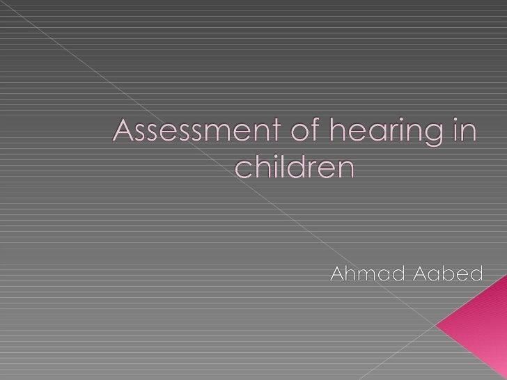 Assessment of hearing_in_children1