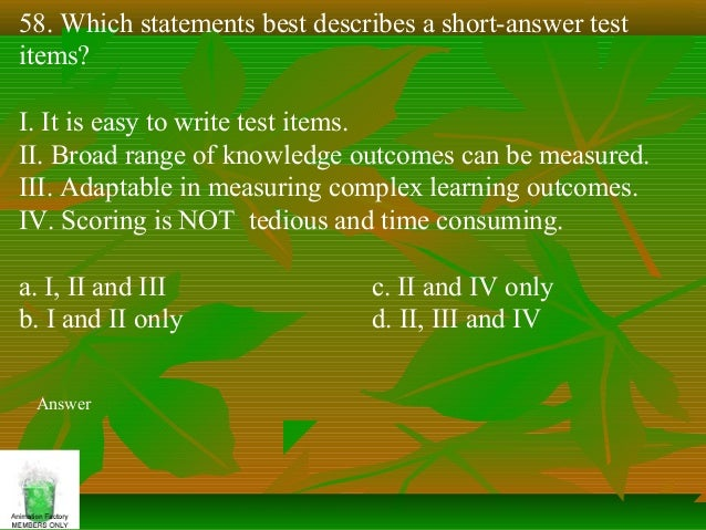 constructing an essay test Constructing written test questions for the basic and clinical sciences   grading, including test construction do's and don't, grading objective and essay  tests,.